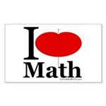 I Love Math Rectangle Sticker 50 pk)