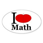 I Love Math Oval Sticker (10 pk)