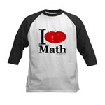 I Love Math Kids Baseball Jersey