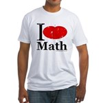 I Love Math Fitted T-Shirt