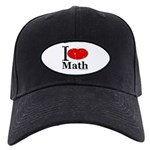 I Love Math Black Cap