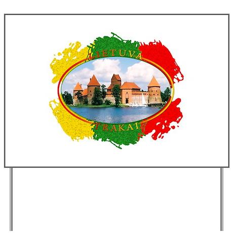 Lietuva - Trakai Yard Sign
