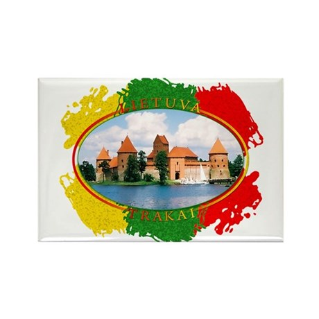Lietuva - Trakai Rectangle Magnet (100 pack)