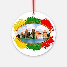 Lietuva - Trakai Ornament (Round)