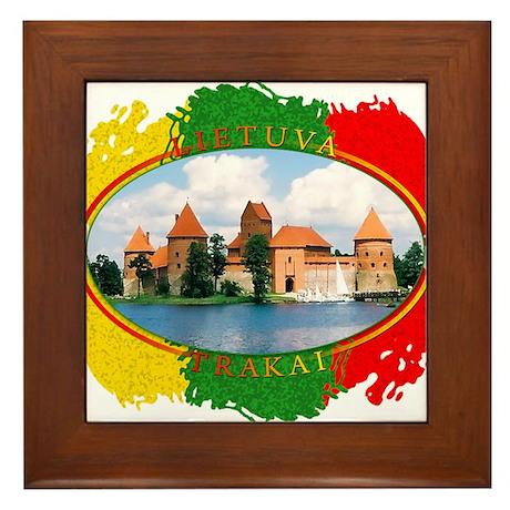 Lietuva - Trakai Framed Tile