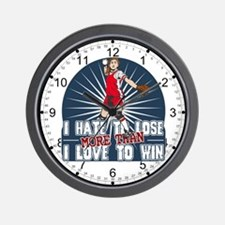 Hate to Lose Softball Wall Clock