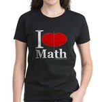 I Love Math Women's Dark T-Shirt