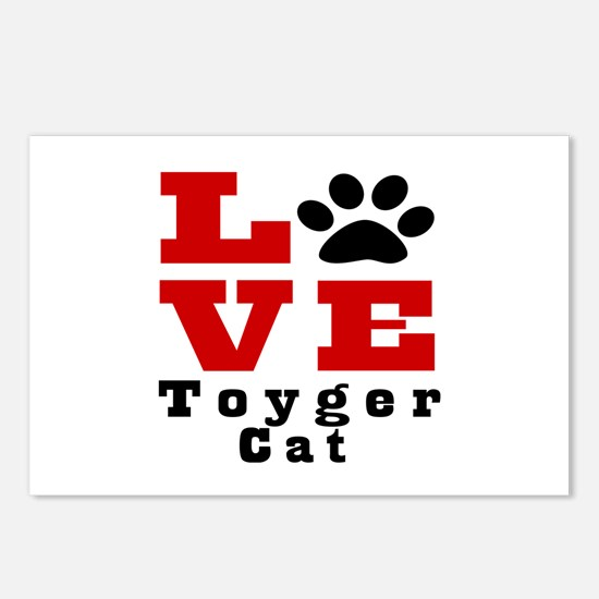 Love toyger Cats Postcards (Package of 8)