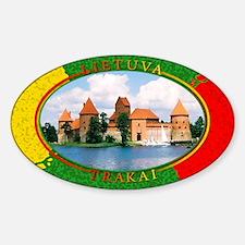 Lietuva - Trakai Oval Decal