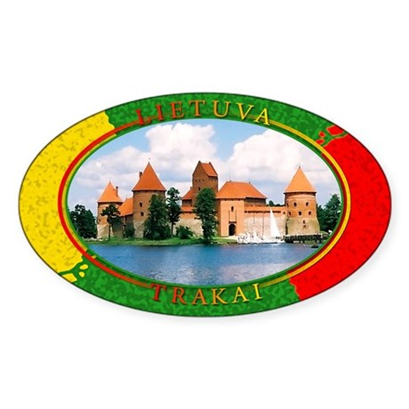Lietuva - Trakai Oval Sticker