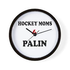 HOCKEY MOMS 4 PALIN Wall Clock
