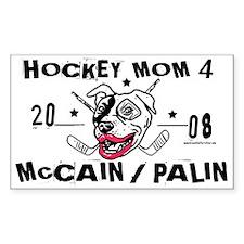 Hockey Moms 4 Palin Rectangle Decal
