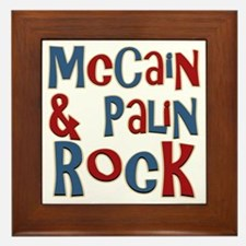 McCain and Palin Rock Framed Tile