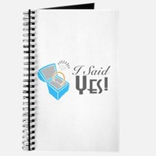 I Said Yes! (Ring Box) Journal