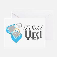I Said Yes! (Ring Box) Greeting Card