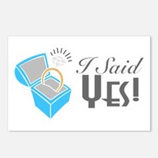 I Said Yes! (Ring Box) Postcards (Package of 8)