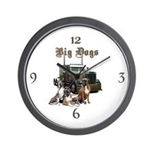 Big Dogs Wall Clock