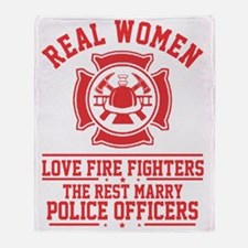 Funny Police girl Throw Blanket