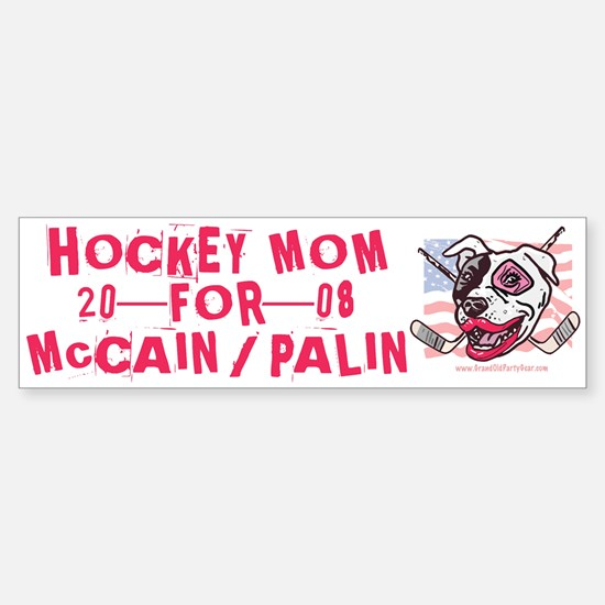 Hockey Moms Palin Pink Bumper Bumper Bumper Sticker