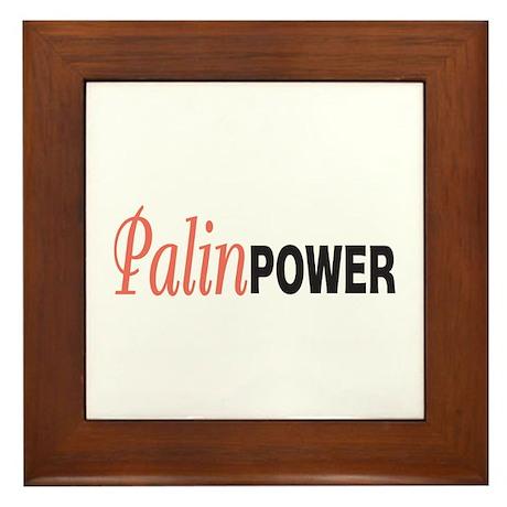 Sarah Palin Power Framed Tile