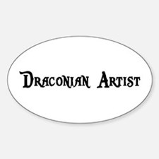 Draconian Artist Oval Decal