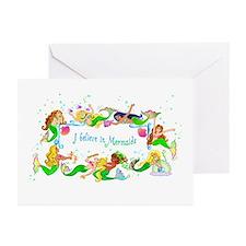 I Believe in Mermaids Greeting Cards (Pk of 10)