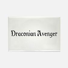 Draconian Avenger Rectangle Magnet