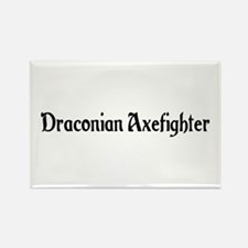 Draconian Axefighter Rectangle Magnet