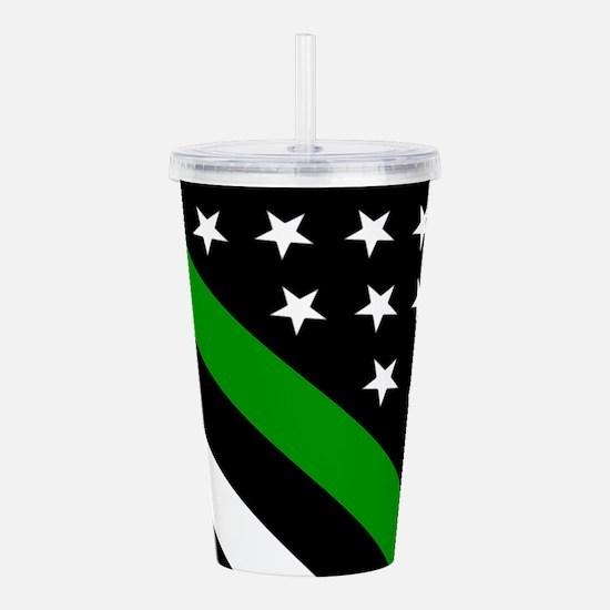 U.S. Flag: Thin Green Acrylic Double-wall Tumbler