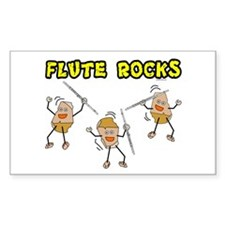 Flute Rocks Rectangle Decal