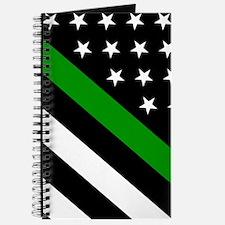 U.S. Flag: Thin Green Line Journal