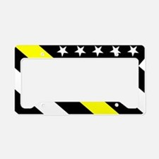 U.S. Flag: Thin Yellow Line License Plate Holder