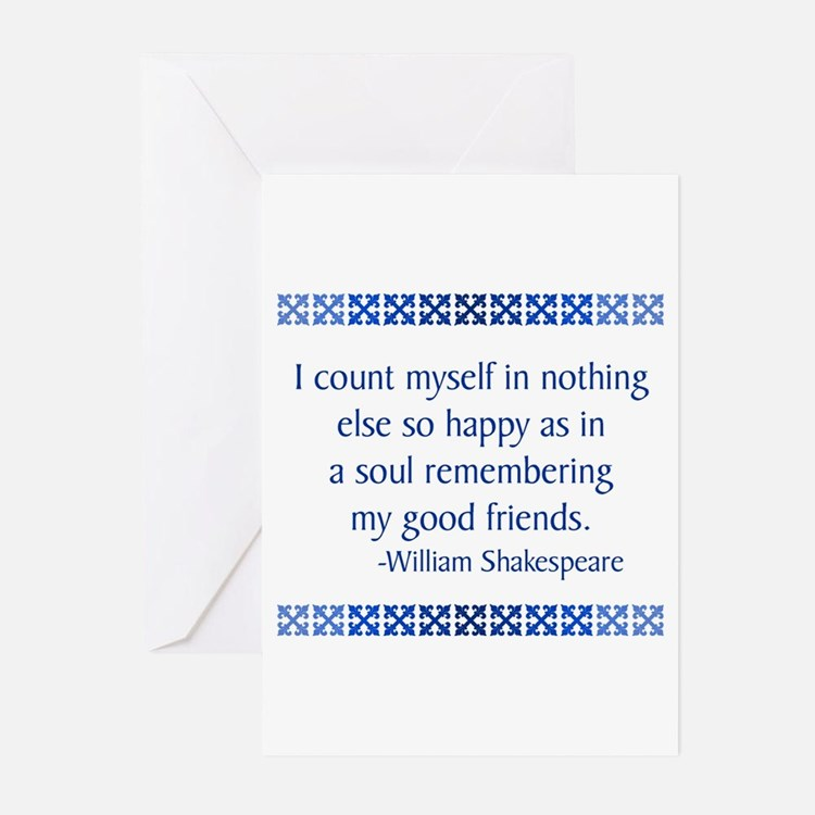 Shakespeare Greeting Cards (Pk of 10)