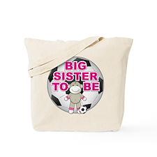 Big Sister To Be Soccer Tote Bag