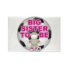 Big Sister To Be Soccer Rectangle Magnet