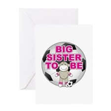 Big Sister To Be Soccer Greeting Card