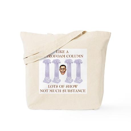 Styrofoam Column Obama Tote Bag