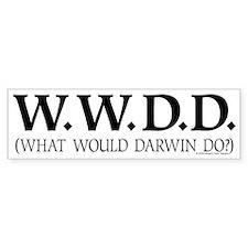 WWDD by Skeptic Tank Designs Bumper Bumper Sticker