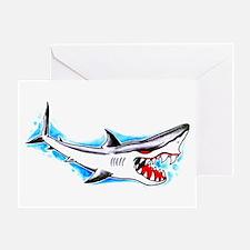 Shark Tattoo Art Greeting Card