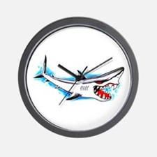 Shark Tattoo Art Wall Clock