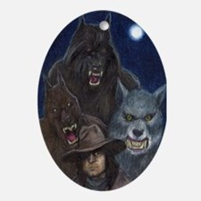 Moonlight Werewolves Werewolf Trio Keepsake (Oval)