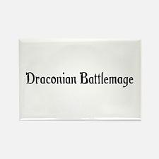 Draconian Battlemage Rectangle Magnet