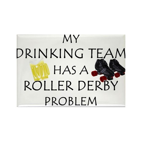 My Drinking Team has a Roller Rectangle Magnet