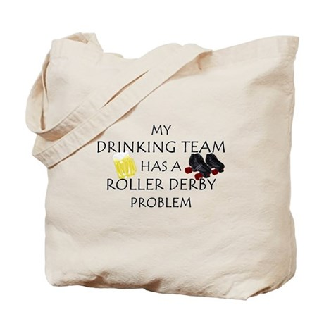 My Drinking Team has a Roller Tote Bag