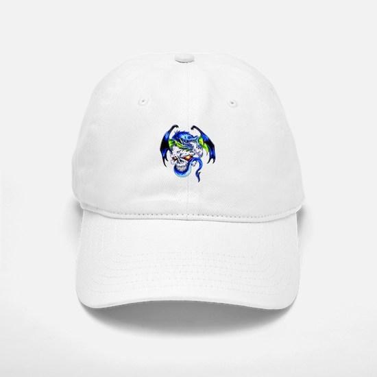 Dragon Skull Motorcycle Tattoo Baseball Baseball Cap