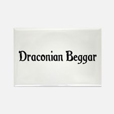 Draconian Beggar Rectangle Magnet
