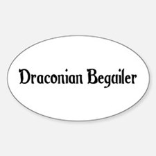 Draconian Beguiler Oval Decal