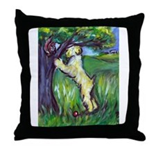 Wheatie Squirrel Chaser Throw Pillow