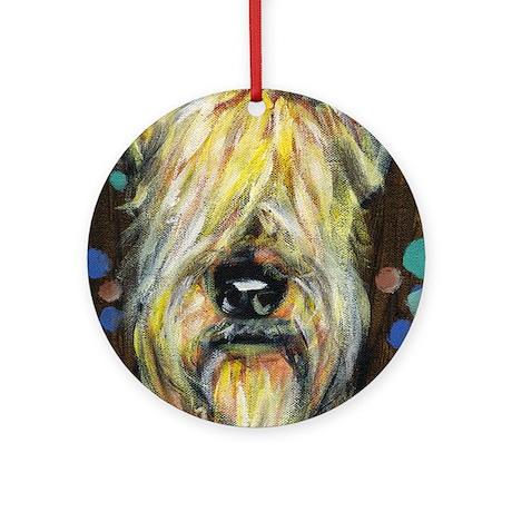 Portrait of a wheatie brown Ornament (Round)