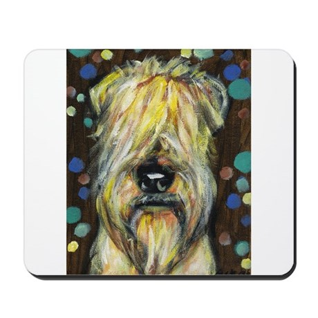 Portrait of a wheatie brown Mousepad